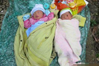 Xót xa hai bé sơ sinh bị bỏ rơi trên ...