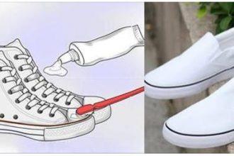 """""""Hô biến"""" giày trắng sạch như mới trong """"một nốt ..."""