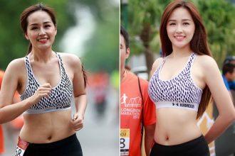 Vòng eo trước và sau photoshop của Mai Phương Thúy ...