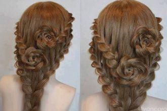 10 bước tạo kiểu tóc tết hoa hồng chỉ trong ...
