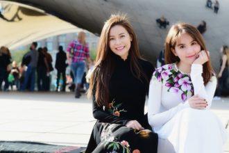 Ngọc Trinh đọ sắc với Hoa hậu Áo dài Việt ...