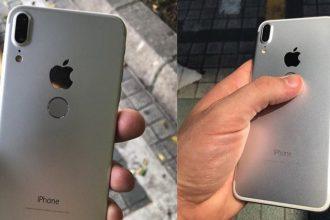 iPhone 8 có nút home ở mặt lưng, camera kép ...