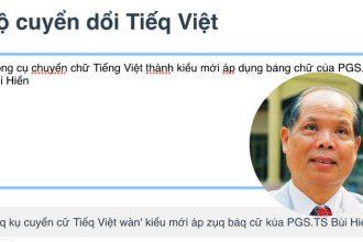 Kôq kụ cuyển cữ Tiếq Việt wàn' kiểu mới áp ...