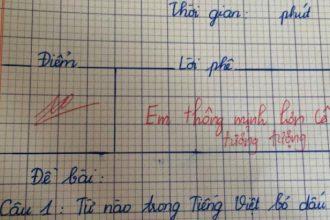 """Cô bé lớp 3 được cô giáo phê: """"Em thông ..."""
