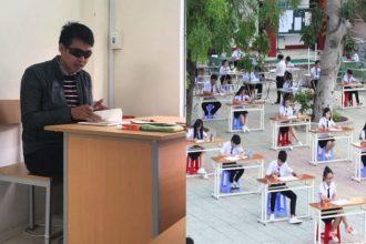 Ông thầy đeo KÍNH RÂM cho học sinh quay bài… ...