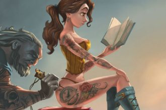 Khi công chúa Disney cũng xăm trổ hầm hố, tattoo ...