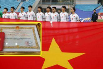 Thủ tướng trao Huân chương Lao động đội tuyển U23 ...