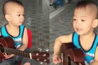"""Cậu bé 5 tuổi gõ song loan, đàn """"Vọng kim ..."""