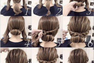 5 mẫu búi cuộn tóc vào trong đẹp và dễ ...